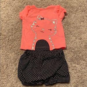 Toddler shirt and shorts